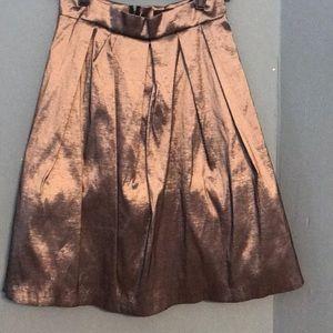 Chetta B silver sheen pleated skirt